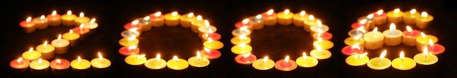 2006个蜡烛 免版税库存图片