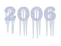 2006冻结的冰柱年 库存图片