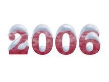 2006多雪的年 免版税库存照片