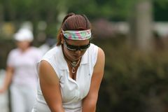 2006年克里斯蒂娜高尔夫球金lpga施托克伯雷杰浏览 免版税库存图片