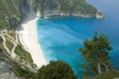 2006海湾kefalonia mirtos 9月 免版税图库摄影