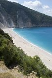 2006海滩kefalonia mirtos 9月 免版税库存图片