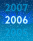 2006. New year eve background blue Royalty Free Stock Image