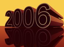 2006. Year 2006 3D illustration Royalty Free Stock Images