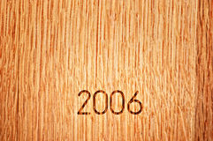 2006 American Oak Wine Barrel Royalty Free Stock Photo