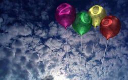 2006 de Ballons van het nieuwjaar Stock Foto's