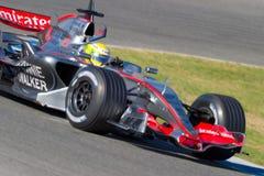 2006 f1 hamilton lewis mclaren laget Arkivbild