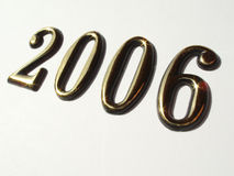 2006 with golden numbers Royalty Free Stock Images