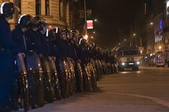 2006 Hungary politycznych demonstracji obraz stock