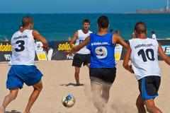 2006 spanjor för strandmästerskapfotboll Arkivfoto