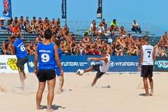 2006 spanjor för strandmästerskapfotboll Arkivbilder