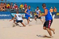 2006 spanjor för strandmästerskapfotboll Arkivbild