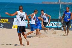 2006 spanjor för strandmästerskapfotboll Royaltyfria Foton