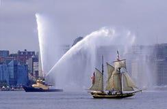 2007年哈利法克斯高游行的船 免版税库存照片
