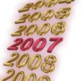 2007 που τονίζεται Στοκ εικόνα με δικαίωμα ελεύθερης χρήσης