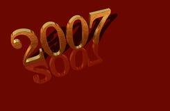 2007 3d gold reflections Στοκ Φωτογραφίες