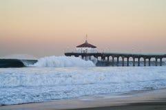 2007 beach big dawn manhattan pier wednesday Στοκ φωτογραφία με δικαίωμα ελεύθερης χρήσης