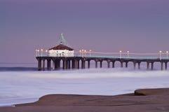 2007 beach big manhattan pier sunrise wednesday Στοκ Φωτογραφία