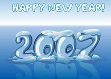 2007 blåa lyckliga nya år royaltyfri illustrationer