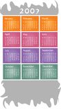 2007 Calendar. 2007 colorful yearly calendar design Royalty Free Stock Photos