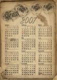 2007 Calendar Grunge Stock Photo