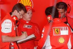 2007 f1 Ferrari kimi raikkonen Zdjęcie Stock