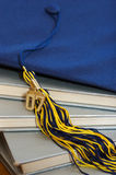 2007 Graduation cap and books stock photos