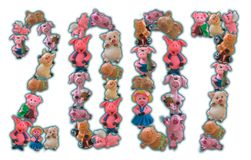 2007 liczby świń Obraz Royalty Free