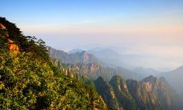 2007 Lipca Huangshan góry wschód słońca Zdjęcie Royalty Free