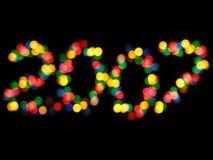 2007 luces Fotografía de archivo