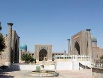 2007 minarets registan samarkand Royaltyfri Foto