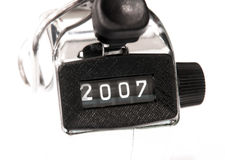 2007,numbering of year Royalty Free Stock Photo