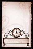 2007 nuovi anni felici con il percorso sull'orologio Fotografia Stock