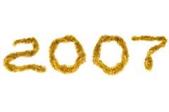2007 nya år Arkivfoto