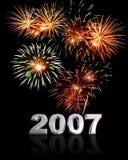 2007 nya år Fotografering för Bildbyråer