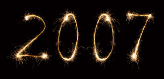 2007 sparkler 3 Royalty Free Stock Photography