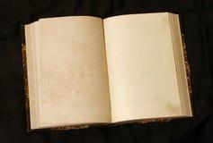 书空的老开放页 免版税库存照片