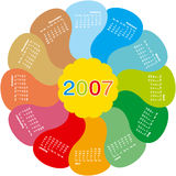 2007calendar4. 2007 Rotating Flower Calendar Royalty Free Illustration