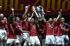 2008个冠军最终同盟莫斯科uefa 库存照片