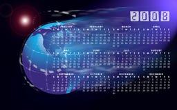 2008个日历地球世界 免版税图库摄影