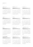 2008个日历白色 向量例证