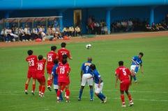 2008中国人超级的橄榄球联盟 库存照片