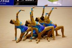 2008全部体操米兰prix 库存图片