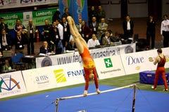 2008全部体操米兰prix 免版税库存照片