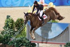 2008奥林匹克的骑马者f 免版税图库摄影