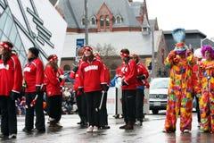 2008年克劳斯游行圣诞老人 免版税库存图片