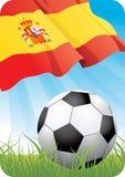 2008年冠军欧洲足球西班牙 皇族释放例证
