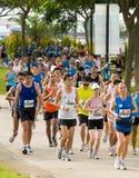 2008年夫人马拉松粉红色新加坡 免版税库存照片