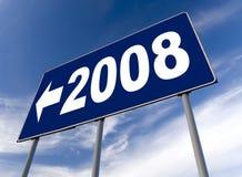 2008年广告牌新年度 免版税库存照片