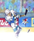 2008年曲棍球冰 免版税库存照片